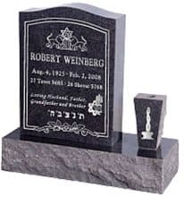 Serp Top Upright Granite Tombstone