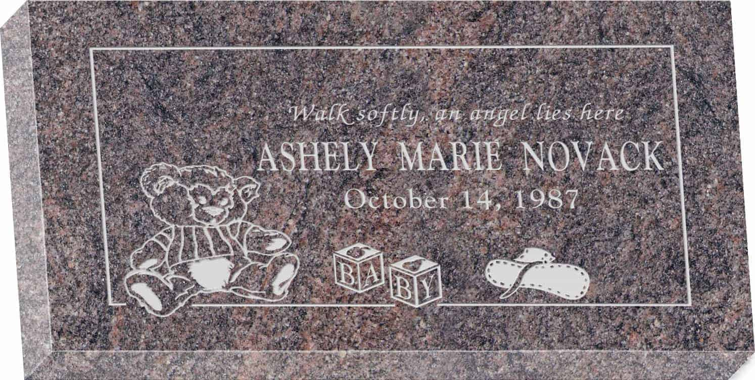 20inch_x_10inch_x_3inch_Flat_Granite_Headstone_in_Himalayan_with_design_R-39