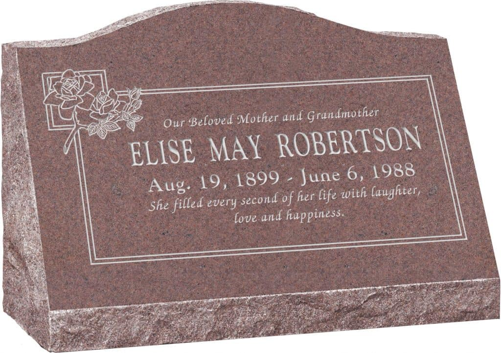 24inch_x_10inch_x_16inch_Serp_Top_Slant_Headstone_polished_front_and_back_in_Desert_Pink_with_design_B-11