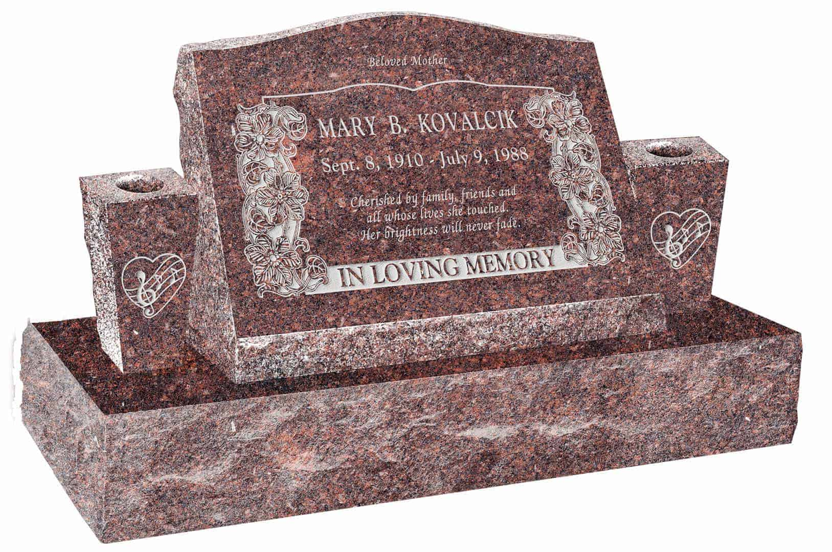 24 x 10 x 16 serp top slant headstone polished front and back 24 x 10 x 16 serp top slant headstone polished front and back with 36 base and two square tapered vases reviewsmspy