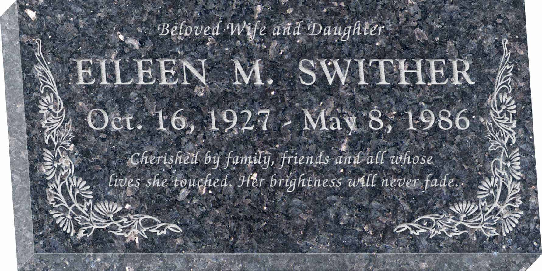 Flat Granite Headstones In Ground Gravemarkers Honor Life