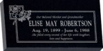 24inch_x_12inch_x_3inch_Flat_Granite_Headstone_in_Imperial_Black_with_design_B-11