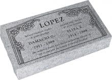 24inch_x_12inch_x_6inch_Pillow_Top_Headstone_in_Grey_with_design_HL-102