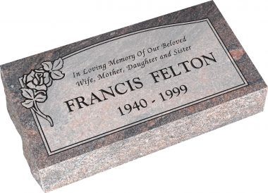 Pillow Top Granite Headstone