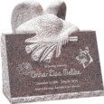 24inch_x_18inch_x_24inch_carved_angel_slant_headstone_polished_front_and_back_with_inch_base_in_mahogany_with_design_1