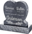 24inch_x_6inch_x_24inch_Single_Heart_Upright_Headstone_polished_front_and_back_with_30inch_Base_in_Blue_Pearl_with_design_1
