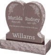 24inch_x_6inch_x_24inch_Single_Heart_Upright_Headstone_polished_front_and_back_with_30inch_Base_in_Desert_Pink_with_design_1