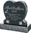24inch_x_6inch_x_24inch_Single_Heart_Upright_Headstone_polished_front_and_back_with_30inch_Base_in_Emerald_Pearl_with_design_1