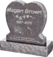 24inch_x_6inch_x_24inch_Single_Heart_Upright_Headstone_polished_front_and_back_with_30inch_Base_in_Himalayan_with_design_1