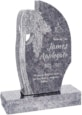 24 inch x 6 inch x 40 inch Olive Tree Upright Headstone polished all sides with 34 inch Base in Bahama Blue