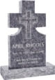 24inch_x_6inch_x_42inch_Cross_Upright_Headstone_polished_front_and_back_with_34inch_Base_in_Bahama_Blue_with_design
