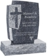 24inch_x_6inch_x_42inch_Cross_Upright_Headstone_polished_front_and_back_with_34inch_Base_in_Blue_Pearl_with_design_1