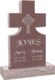 24inch_x_6inch_x_42inch_Cross_Upright_Headstone_polished_front_and_back_with_34inch_Base_in_Desert_Pink_with_design_1