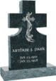 24inch_x_6inch_x_42inch_Cross_Upright_Headstone_polished_front_and_back_with_34inch_Base_in_Emerald_Pearl_with_design