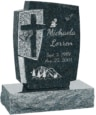 24inch_x_6inch_x_42inch_Cross_Upright_Headstone_polished_front_and_back_with_34inch_Base_in_Emerald_Pearl_with_design_1