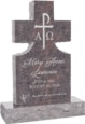 24inch_x_6inch_x_42inch_Cross_Upright_Headstone_polished_front_and_back_with_34inch_Base_in_Himalayan_with_design_1