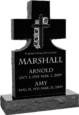 24inch_x_6inch_x_42inch_Cross_Upright_Headstone_polished_front_and_back_with_34inch_Base_in_Imperial_Black_with_design_1