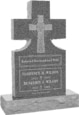 24inch_x_6inch_x_42inch_Cross_Upright_Headstone_polished_front_and_back_with_34inch_Base_in_Imperial_Grey_with_design_1