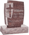 24inch_x_6inch_x_42inch_Cross_Upright_Headstone_polished_front_and_back_with_34inch_Base_in_Mahogany_with_design_1