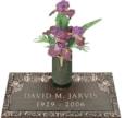 24x12 Dark Bronze Classic Rose 2 and Vase Front Perspective