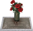 24x12 Dark Bronze Country Dogwood with Granite Base and Vase Front Perspective