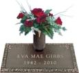 24x12 Dark Bronze Ivy 2 and Vase Front Perspective