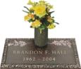 24x12 Dark Bronze Oak Leaf 2 and Vase Front Perspective