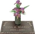24x12 Dark Bronze Petite Rose and Vase Front Perspective