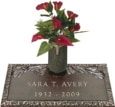 24x12 Dark Bronze Pine Bough 1 and Vase Front Perspective