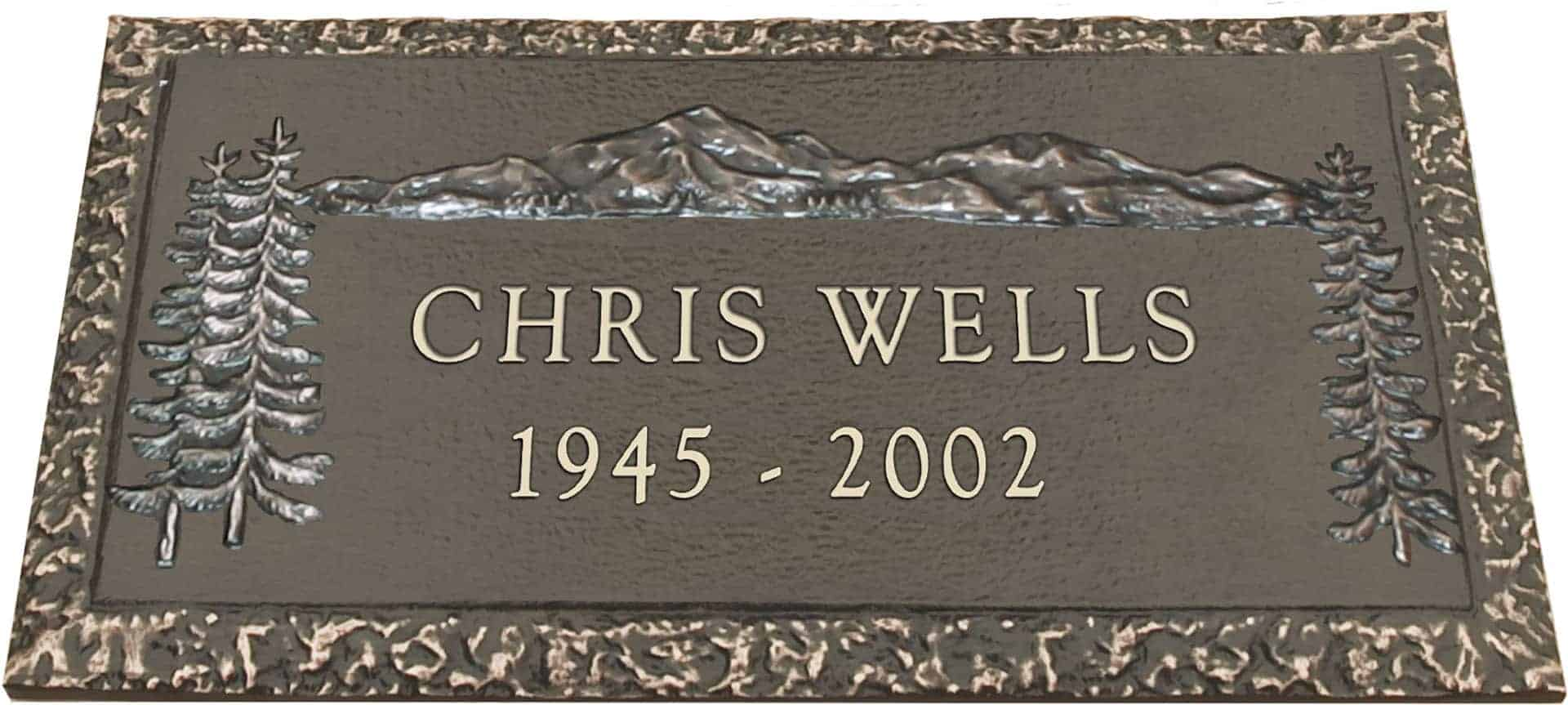 bronze headstone 24x14 individual without base honor life Headstones for Mother Clip Art Headstone Art Designs