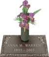 24x14 Dark Bronze Petite Rose and Vase Front Perspective