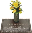 24x14 Dark Bronze Prairie Scene and Vase Front Perspective