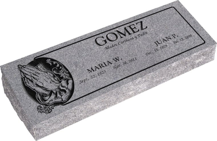 36inch_x_12inch_x_6inch_Pillow_Top_Headstone_in_Grey_with_design_AS-013