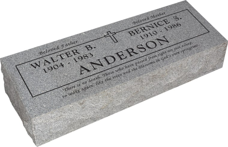 36inch_x_12inch_x_8inch_Pillow_Top_Headstone_in_Grey_with_design_B-0