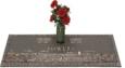 36x13 Dark Bronze Prairie Scene and Vase Front Perspective