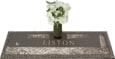 44x14 Dark Bronze Coastal Scene and Vase Front Perspective