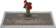44x14 Dark Bronze Prairie Scene with Granite Base and Vase Front Perspective