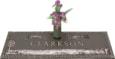 44x14 Dark Bronze Ranch Scene and Vase Front Perspective