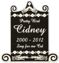 Birdcage-1-Pet-Memorial-in-Imperial-Black-(PM110BK)
