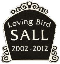 Birdcage 3 Pet Memorial in Imperial Black PM1122BK