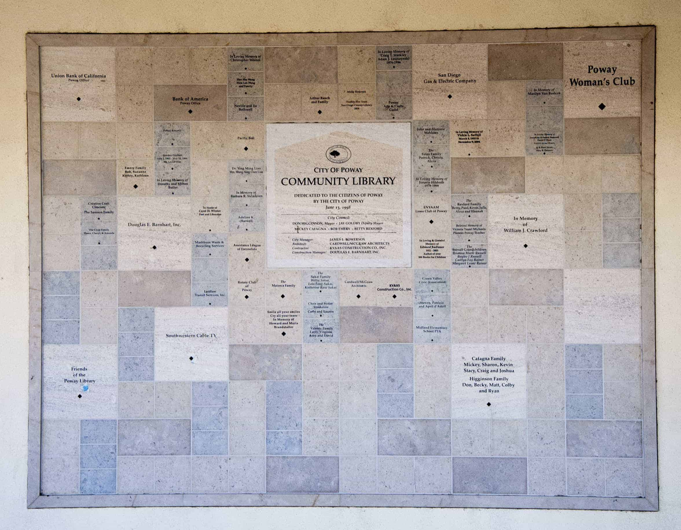 City-of-Poway-Library-Donor-Wall