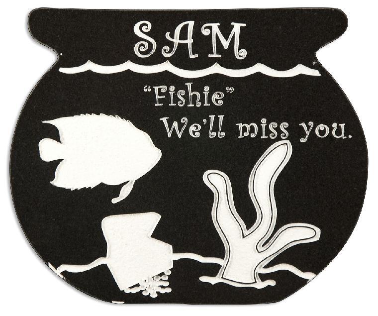 Fish Bowl 1 Pet Memorial in Imperial Black PM103BK