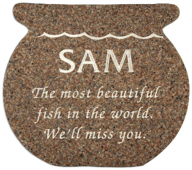 Fish Bowl 2 Pet Memorial in Desert Pink PM104CR