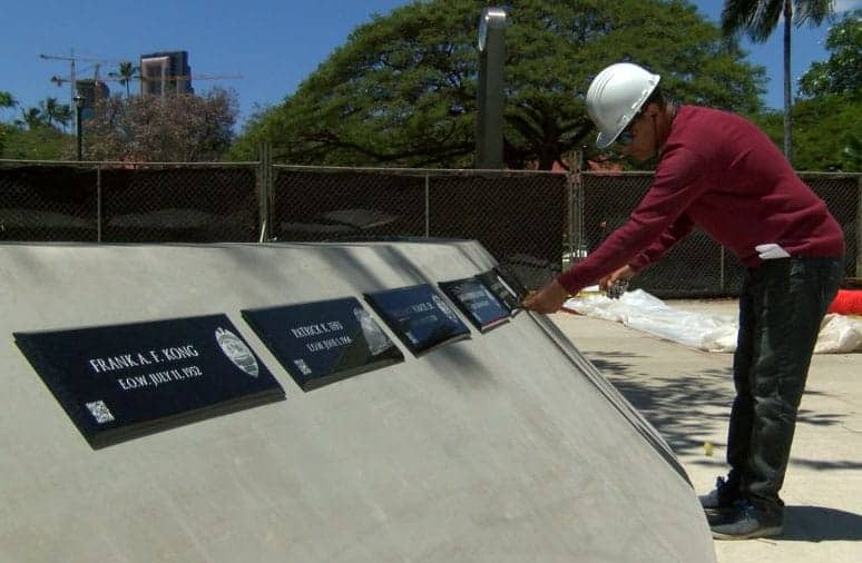 Hawaii Fallen Law Enforcement Officer Memorial Installation