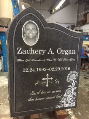 Headstone Testimonial for Organ Family
