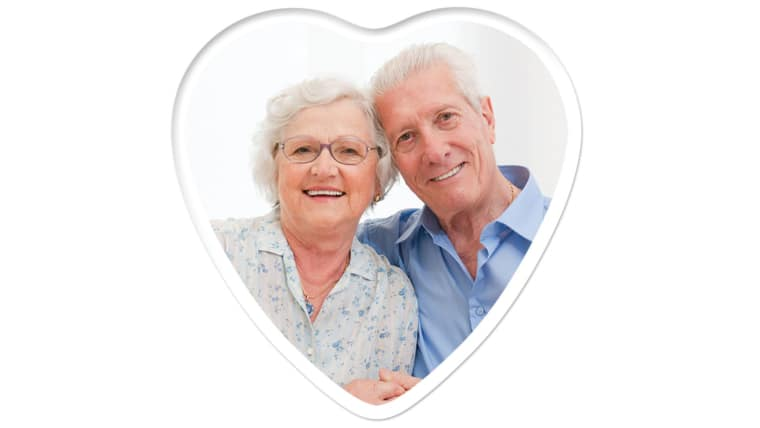 Heart 4 inch x 4 inch, Color Photo Ceramic