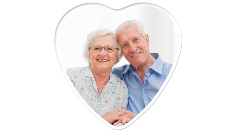 Heart 6 inch x 6 inch, Color Photo Ceramic