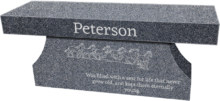 Imperial Grey Cremation Bench