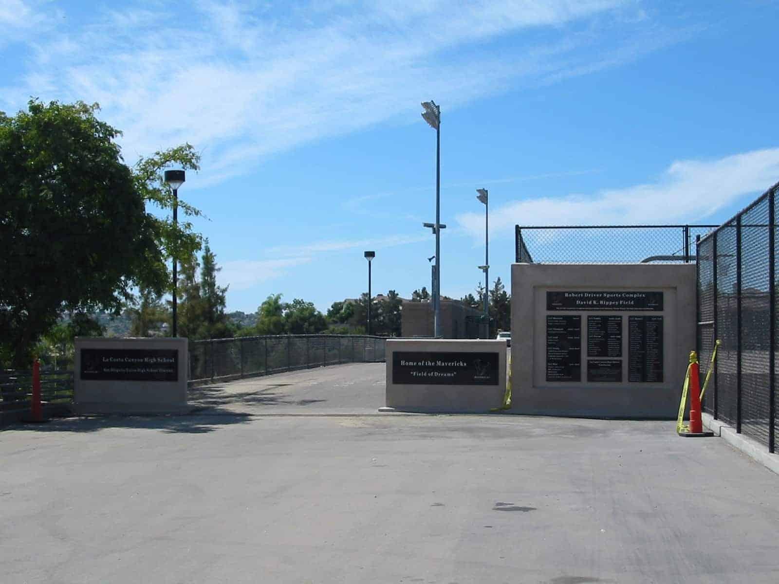La Costa Canyon High School field entryway