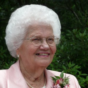 Photo of Mildred Kinnaird on her 90th birthday